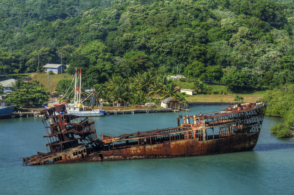Iconic Ship Wreck Roatan